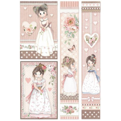 Papír rýžový A4 Little Girl, čtyři dívky