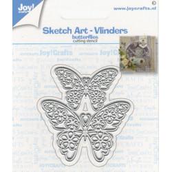 Vyřezávací šablona - dva motýlci (JC)