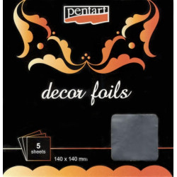 Decor Foils 3D Pentart - stříbrná