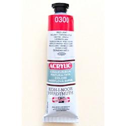 Akrylová barva - Světle červená 0300