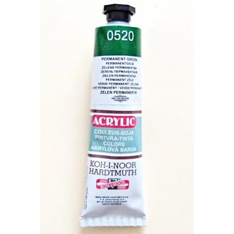 Akrylová barva - Zeleň permanentní