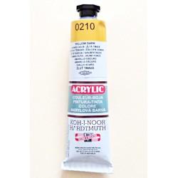 Akrylová barva - žluť tmavá 0210
