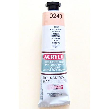 Akrylová barva - Růžová
