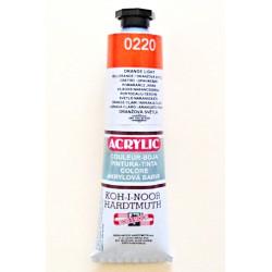 Akrylová barva - Světlá oranžová 0220
