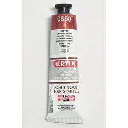 Akrylová barva - Měděná