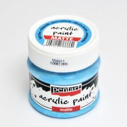 Akrylová barva Pentart 50ml - světle modrá, matná