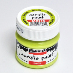 Akrylová barva Pentart 50ml - limetková, matná