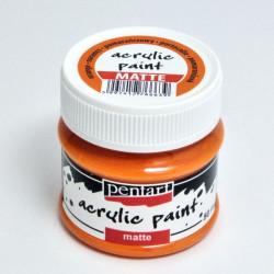 Akrylová barva Pentart 50ml - pomerančová, matná