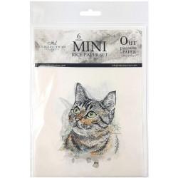 Set 6ks rýžových papírů - Kočky a psi (14,8x14,8cm)