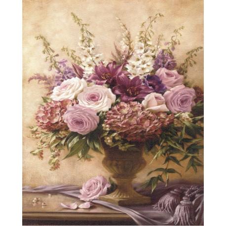 Reprodukce obrazu 24x30 - Malované kytice I
