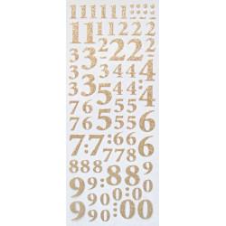 Samolepky Číslice třpytivé zlaté