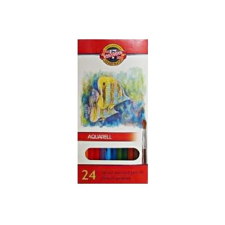 Pastelky akvarelové 24ks