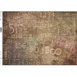 Papír rýžový A3 Číslice na písmu