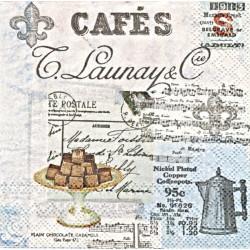 Café Collage 25x25
