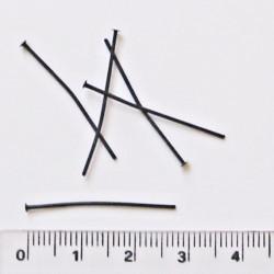 Ketlovací nýt - 2cm, 5ks - černý zinek