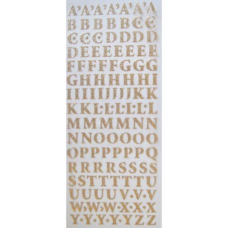 Samolepky Písmena třpytivá zlatá
