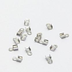 Koncovka 2mm - lesklá stříbrná barva