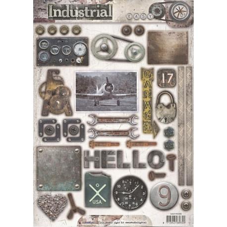 Papírové výseky A4 - Industrial nr.390 (SL)
