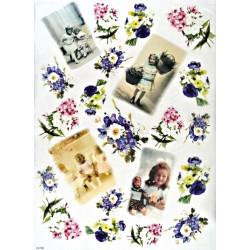 Papír rýžový A3 Děti a květiny