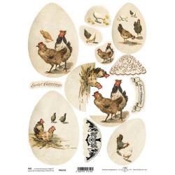Scrap.papír A4 - Velikonoční motivy na vejcích