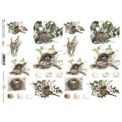 Scrap.papír A4 - Ptačí hnízda