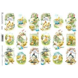 Scrap.papír A4 - Veselé Velikonoce dvakrát