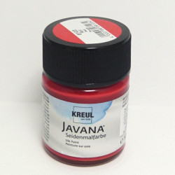 Barva na hedvábí JAVANA 50ml - červená