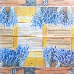 Svazky levandule s papírem 33x33