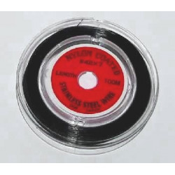 Kovové lanko v černém nylonovém potahu 1m