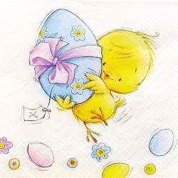 Kuřátko nese vejce 33x33