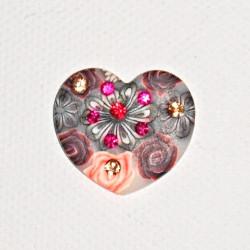 Přívěsek srdíčko z FIMO hmoty 25/23