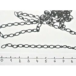 Řetízek pro výrobu šperků 1m černý - podlouhlý