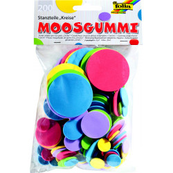 Moosgummi kolečka mix 200ks (F)
