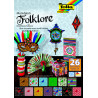 Blok vzorovaných papírů 26 listů - Folklore