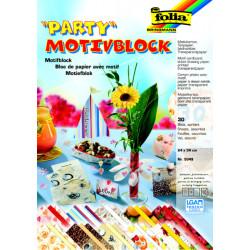 Blok s motivem párty 24x34cm, 30ks, mix (F)