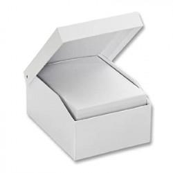 Krabice z kartonu - kartotéka, bílá 3ks (F)