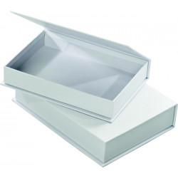 Krabičky z kartonu - knížky bílé 2ks (F)