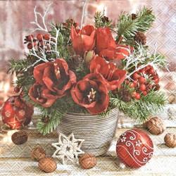 Vánoční kytice 33x33