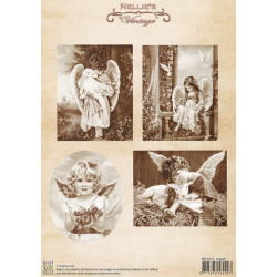 Nellie Vintage A4 - andělé se zvířátky