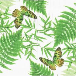 Motýl a listy 33x33