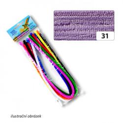 Drátek žinylka 10ks, průměr 8mm, fialový (F)