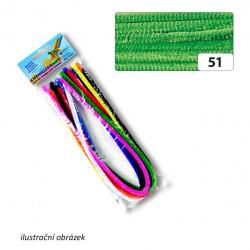Drátek žinylka 10ks, průměr 8mm, sv. zelený (F)