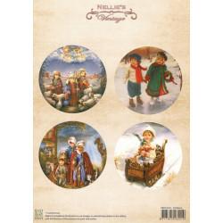 Nellie Vintage A4 - vánoční s dětmi
