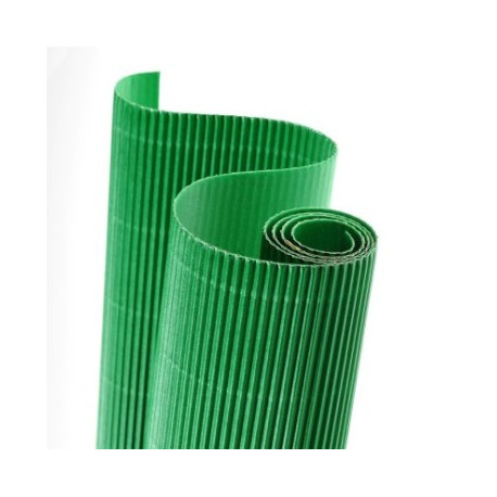 E - Vlnitá lepenka 50x70cm v roli, zelená (F)