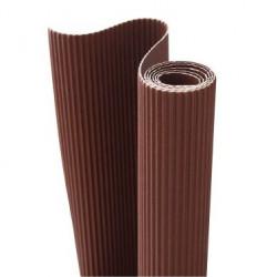 E - Vlnitá lepenka 50x70cm v roli, čokoládová (F)