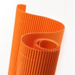 E - Vlnitá lepenka 50x70cm v roli, oranžová (F)