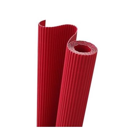 E - Vlnitá lepenka 50x70cm v roli, červená (F)