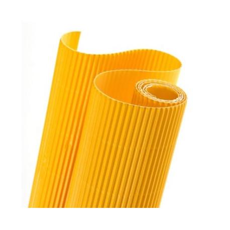 E - Vlnitá lepenka 50x70cm v roli, žlutá (F)