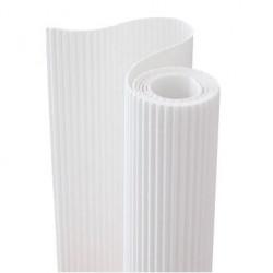 E - Vlnitá lepenka 50x70cm v roli, bílá (F)