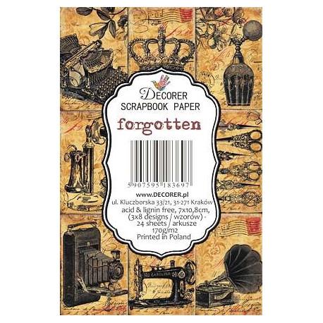 Sada scrap.kartiček 7x10,8cm - Forgotten (Decorer)